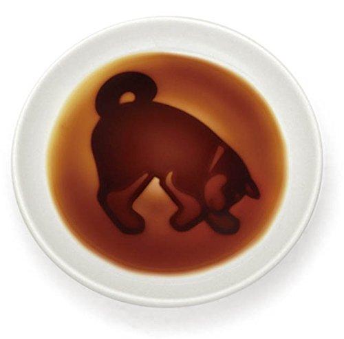 イヌ醤油皿 小皿 浮き出し 陶器 さがす AR0604209