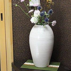 [해외]시가 라키 흰색 가마 이상 花入れ ha-0158 꽃병 화분 꽃병 꽃 입 시가 라키 도자기 도자기 도자기 항아리 인테리어 세련된 멋을/Shigaraki ware White kiln Changeable flower ha-0158 Vase Floral Orbital Floral Bud Vase Flower Into Shimaki Yak...