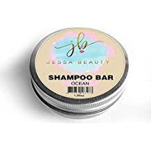 Shampoo Beauty Bar - 3 in 1 Organic Coconut Oil Shampoo, Condition, Treatment - Travel hair care (Ocean Blue) - by Jessa Beauty