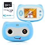 Kids Camera 2 Inch Screen Mini OWL Camcorders for 3-9 Years Old Girls and Boys with 16GB Micro SD Card Shockproof Silicone Shell 1080P Video Camera