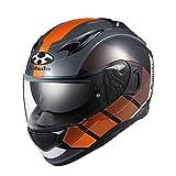 オージーケーカブト(OGK KABUTO)バイクヘルメット フルフェイス KAMUI3 JM(ジェーエム) ブラックオレンジ (サイズ:XL)