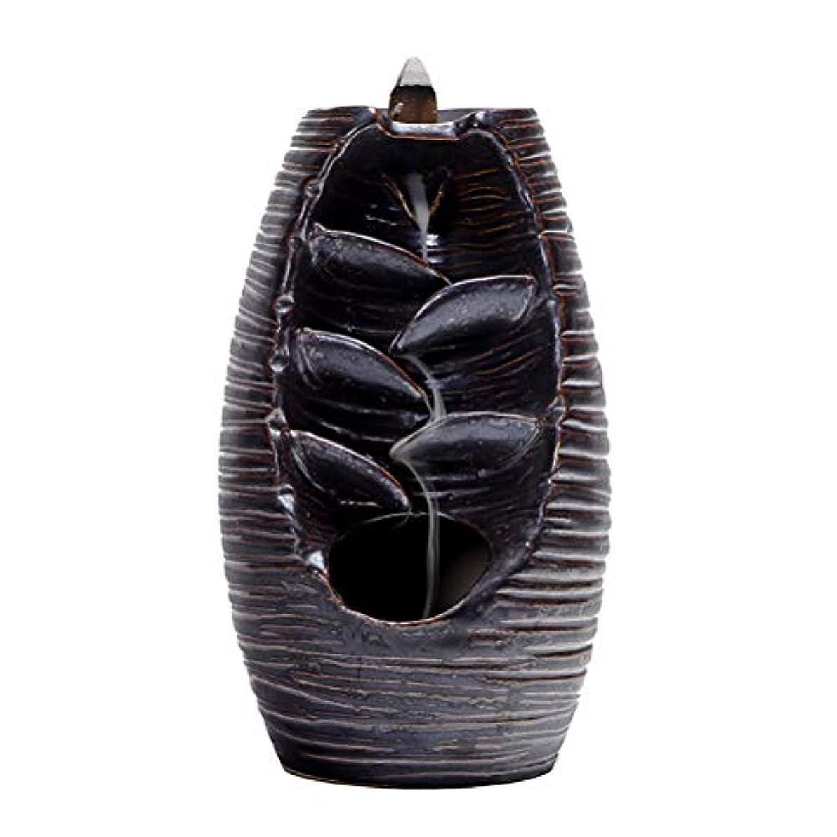 国際頂点枢機卿Vosarea 逆流香バーナー滝香ホルダーアロマ飾り仏教用品(黒)