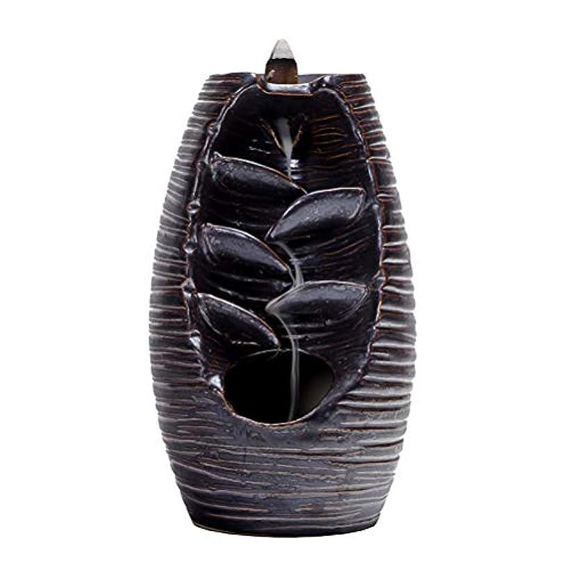 昇るダーリン飲み込むVosarea 逆流香バーナー滝香ホルダーアロマ飾り仏教用品(黒)