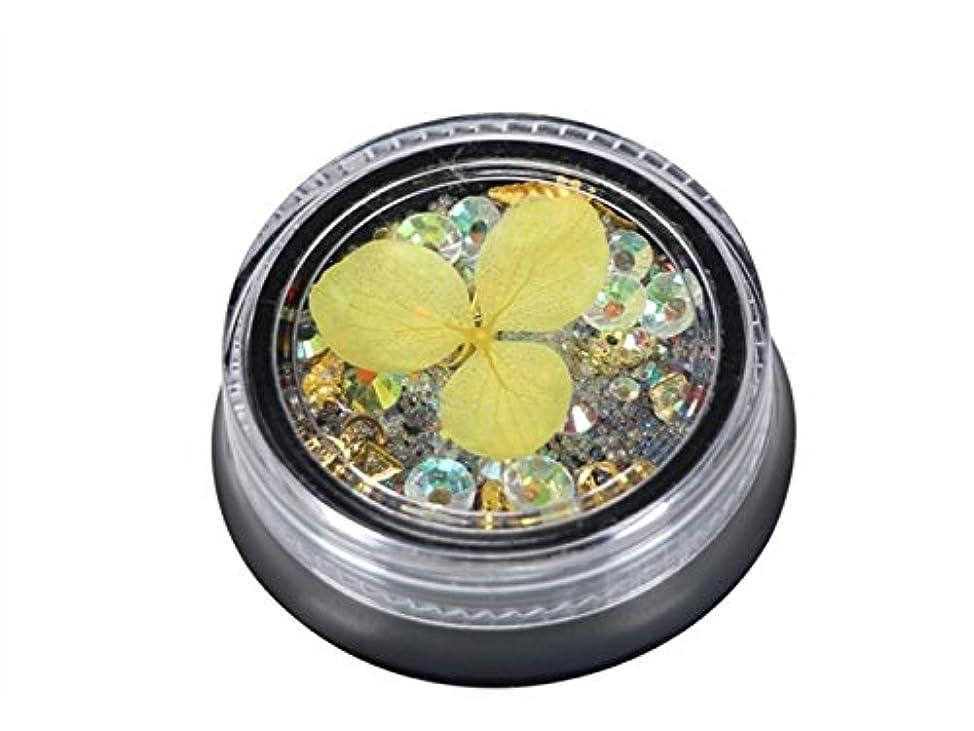 まともなシャイニングスポンサーOsize カラフルなネイルアートクリスタルのラインストーンは、樹脂デコキラキラケース(ライトイエロー)をローズ