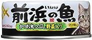 いなば キャットフード 前浜の魚 かつお丸つぶし 野菜入り 115g×24缶 (まとめ買い)