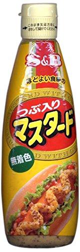 S&B つぶ入りマスタード(無着色) 260g