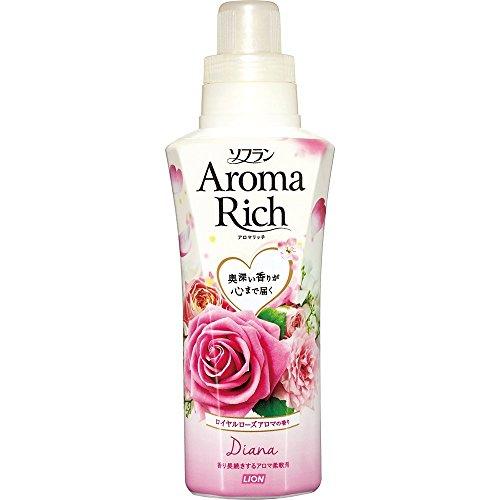 ソフラン アロマリッチ 柔軟剤 ダイアナ(ロイヤルローズアロマの香り) 本体 550ml
