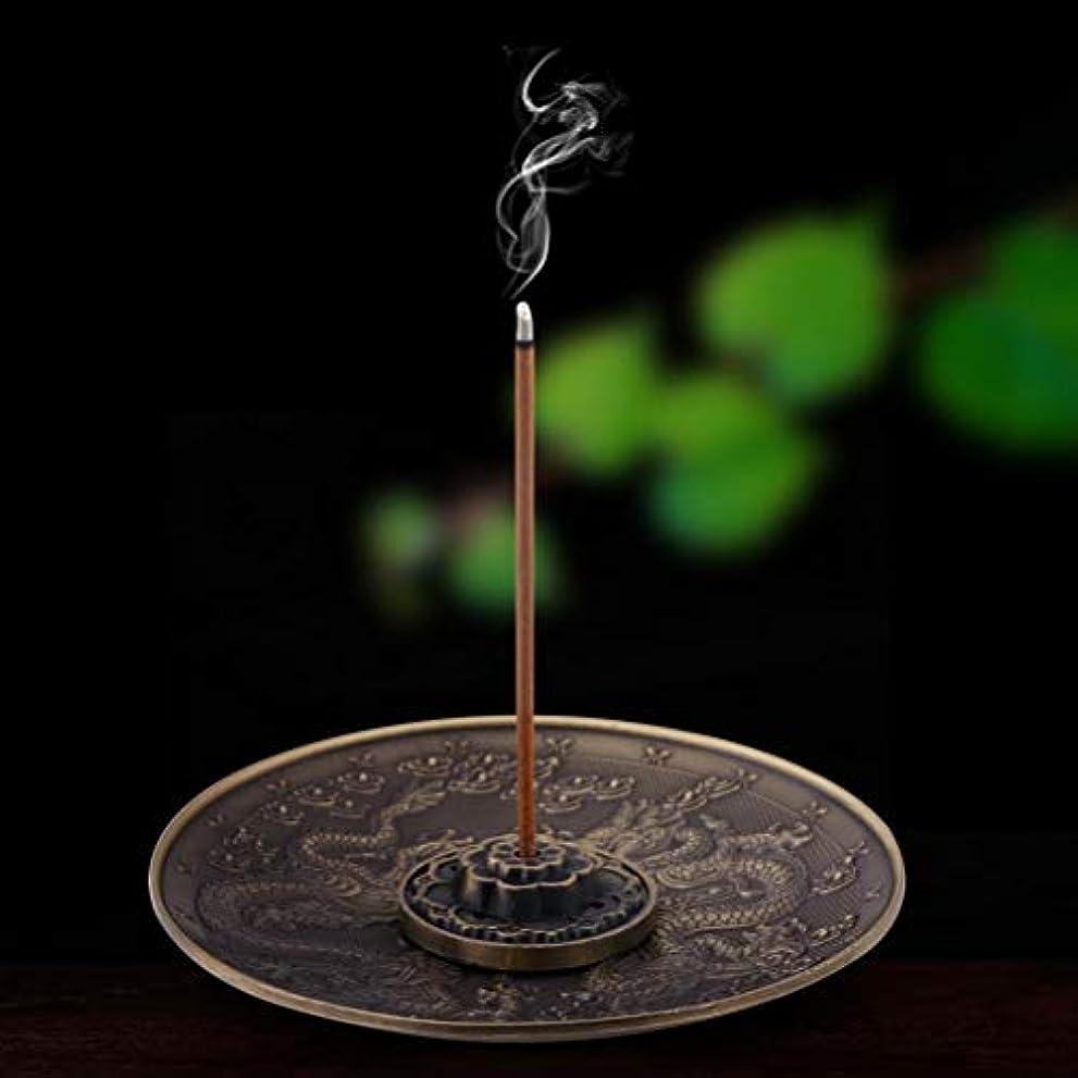 グリーンバック素晴らしい湿気の多いキャンドルアロマテラピー炉香ベースのための線香バーナーホルダードラゴンパターンセンサープレート (B)