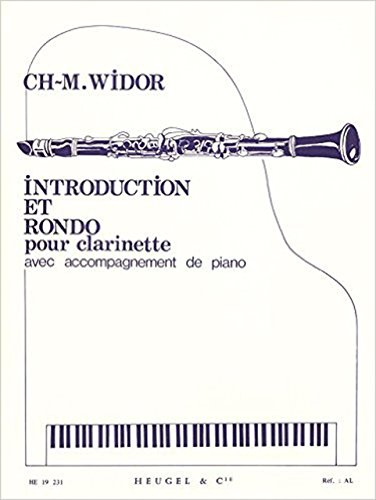 ヴィドール: 序奏とロンド Op.72/ウジェル社/クラリネットとピアノ