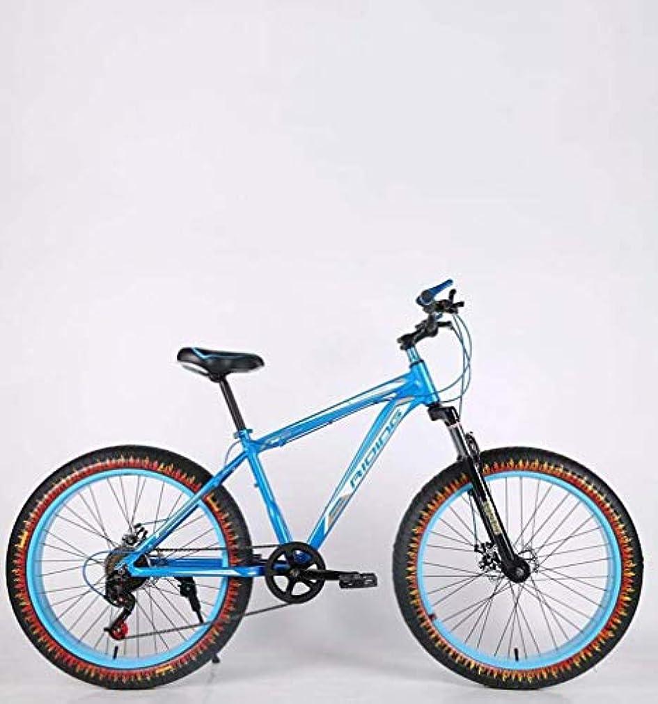 盆地防ぐライターメンズアダルトファットタイヤマウンテンバイク、ダブルディスクブレーキビーチ雪自転車、高炭素鋼フレームクルーザーバイク、24インチホイール炎