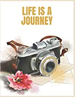 Life Is A Journey: Busy Life Is Not A Matter.Journey All Time Fresh Mind.Daily Travel Planner.book size 8.5 x 11.