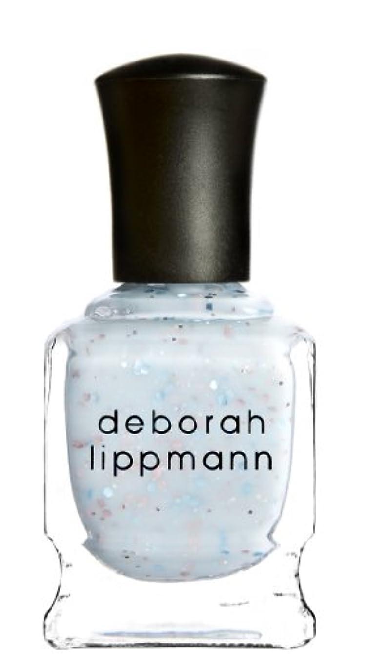 のホスト温度計巧みな[Deborah Lippmann] デボラリップマン グリッター イン ジ エアー/GLITTER IN THE AIR 透明感のあるクリーミーな水色のベースに ピンクとブルーのラメが入るかわいいカラー ふんわりした印象...