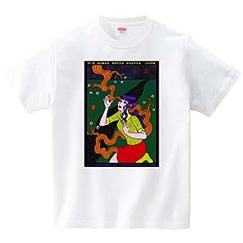 うらなか書房のシュールなTシャツ「目玉も生える 三日月の夜」(Tシャツ・ホワイト)(Sサイズ) (うらなか書房)
