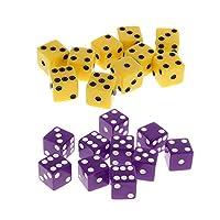 dailymall D&Dパーティーテーブルロールプレイングボードゲームギフト用20面D6ダイス20個パック