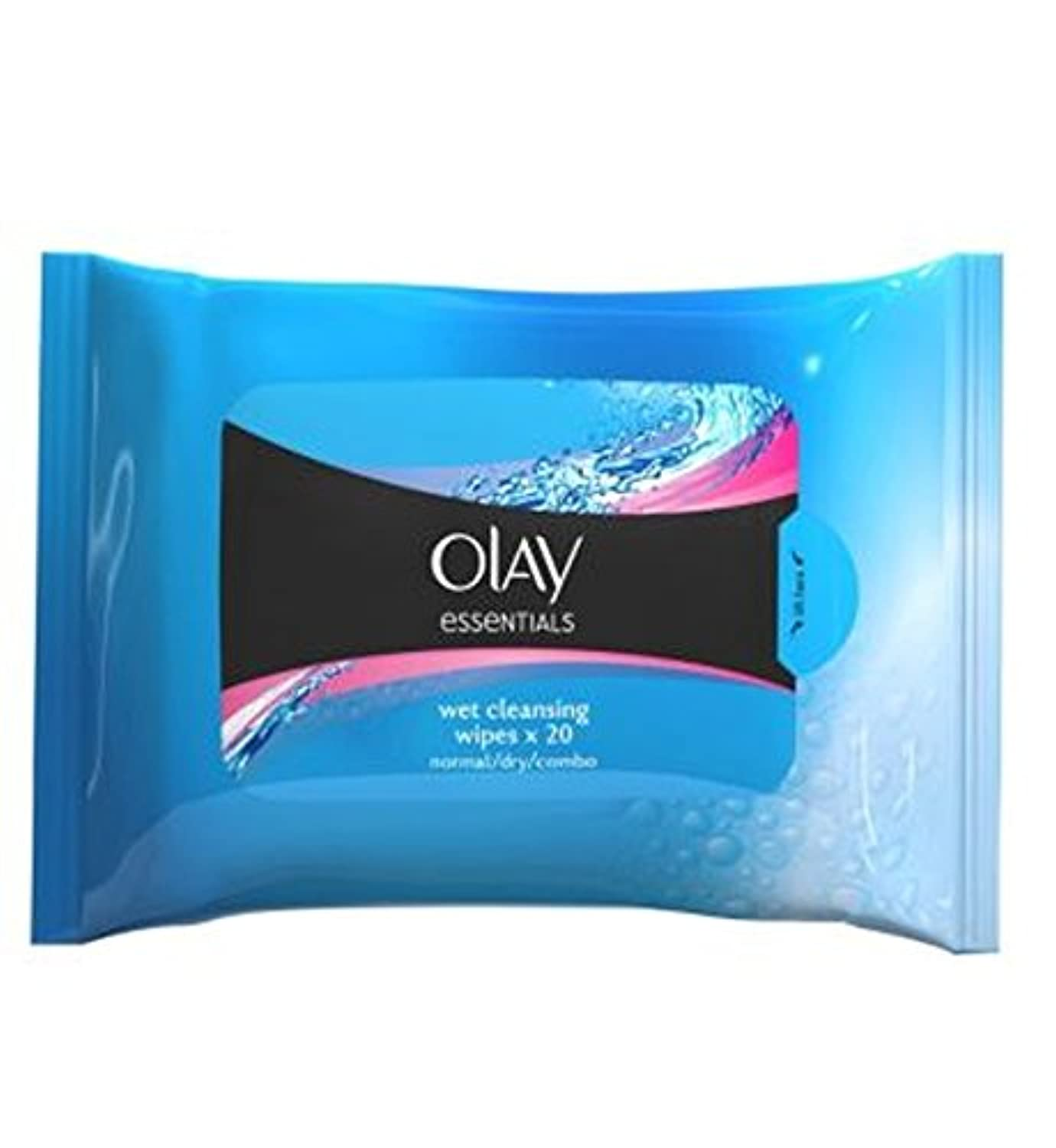 Olay Facial Normal Skin Cleansing Wipes in Resealable Pouch x20 - オーレイ顔の正常な皮膚のクレンジングは、再シール可能なポーチX20にワイプ (Olay)...