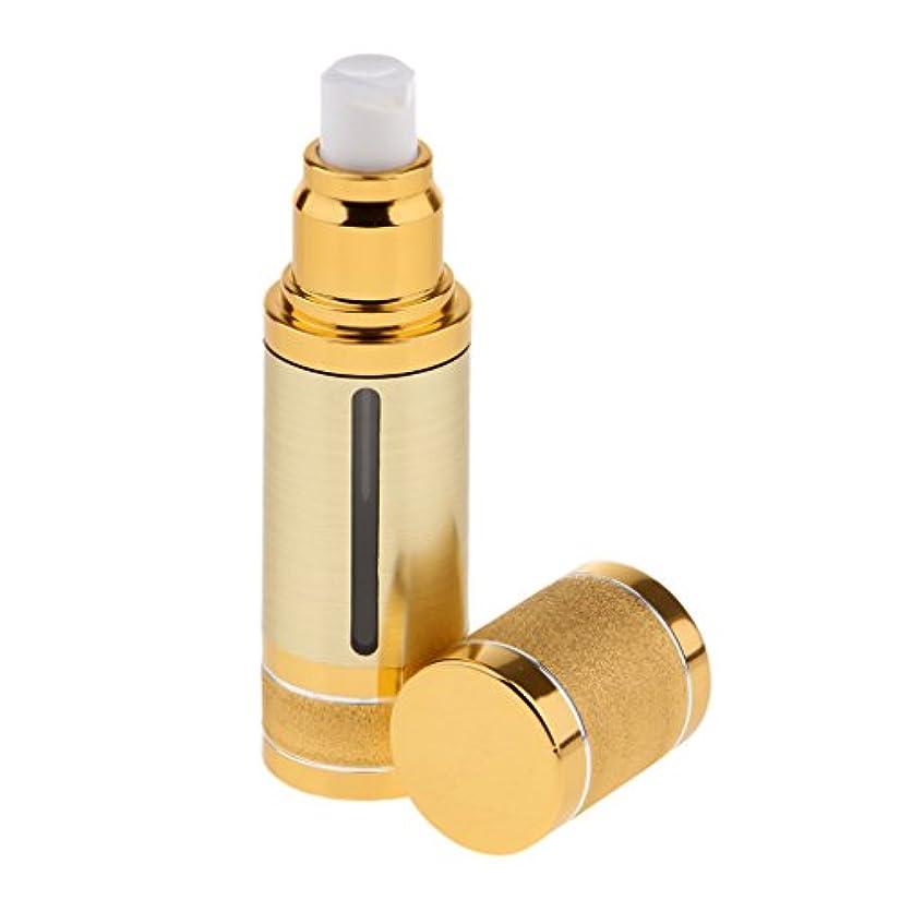 エミュレーションで出来ている忠実なBaosity ポンプボトル 空ボトル エアレスボトル 30ml コスメ 香水 オイル 詰替え DIY 旅行小物 出張 便利 2色選べる - ゴールド