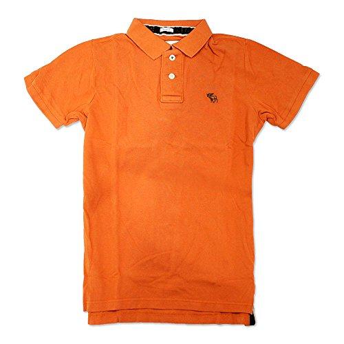 (アバクロンビー&フィッチ)Abercrombie & Fitch. ポロシャツ メンズ 半袖 ボタンダウン ブランド 大きい(M,E/オレンジ)