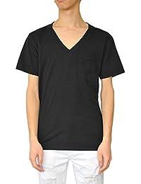 Freeseam フリーシーム VネックポケットTシャツ (BLACK)