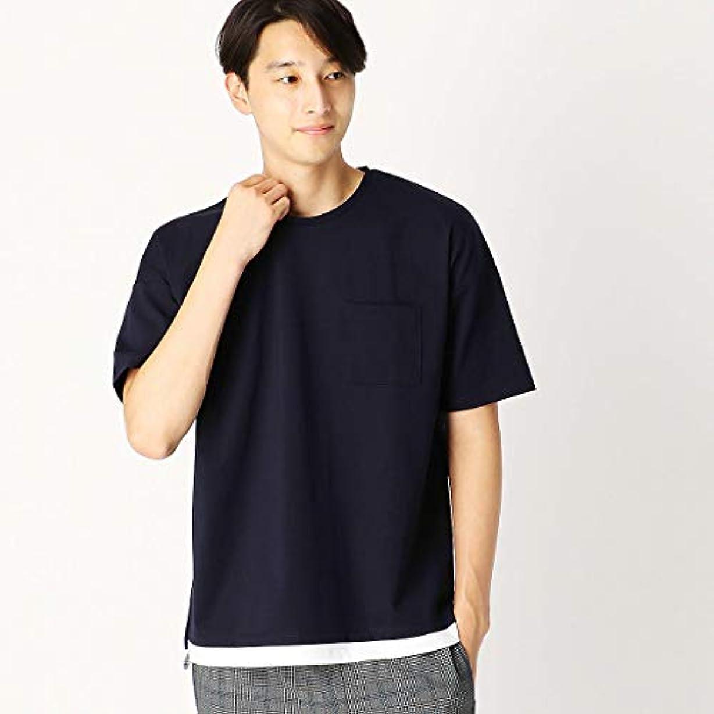 めったに旅行代理店不格好(コムサ イズム) COMME CA ISM フェイクレイヤード ビッグTシャツ 47-60TI12-108