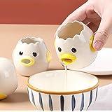 Cartoon Egg Separator Mini Egg White and Yolk Separator Practical and Simple Ceramic Egg Separator Suitable for Kitchen Bakin