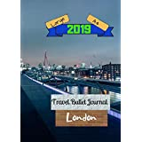 Large A4 2019 Travel Bullet Journal London: Turn your adventures into a life-long memory with this notebook planner and organzier.