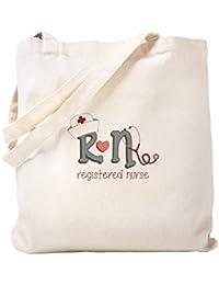 CafePress – 登録看護師 – ナチュラルキャンバストートバッグ、布ショッピングバッグ S ベージュ 1420159030DECC2