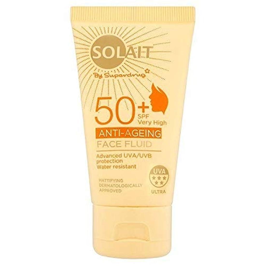 宣言する平均不透明な[Solait] Solait顔日クリームSpf50液の50ミリリットル - Solait Face Sun Cream Fluid SPF50 50ml [並行輸入品]