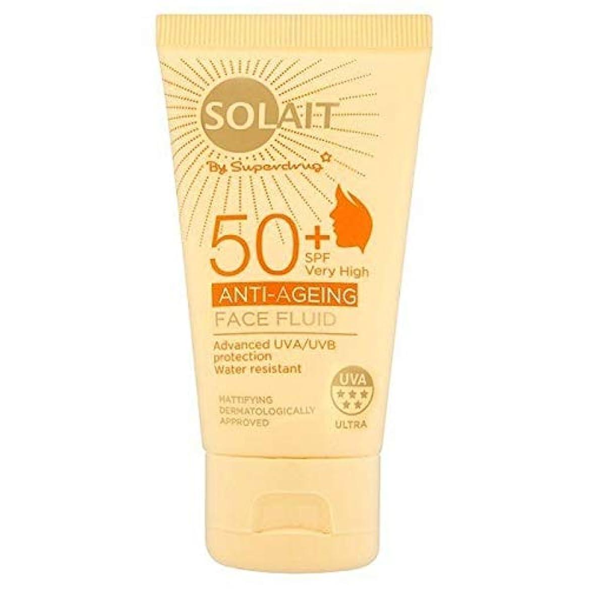 見える宝ジャングル[Solait] Solait顔日クリームSpf50液の50ミリリットル - Solait Face Sun Cream Fluid SPF50 50ml [並行輸入品]