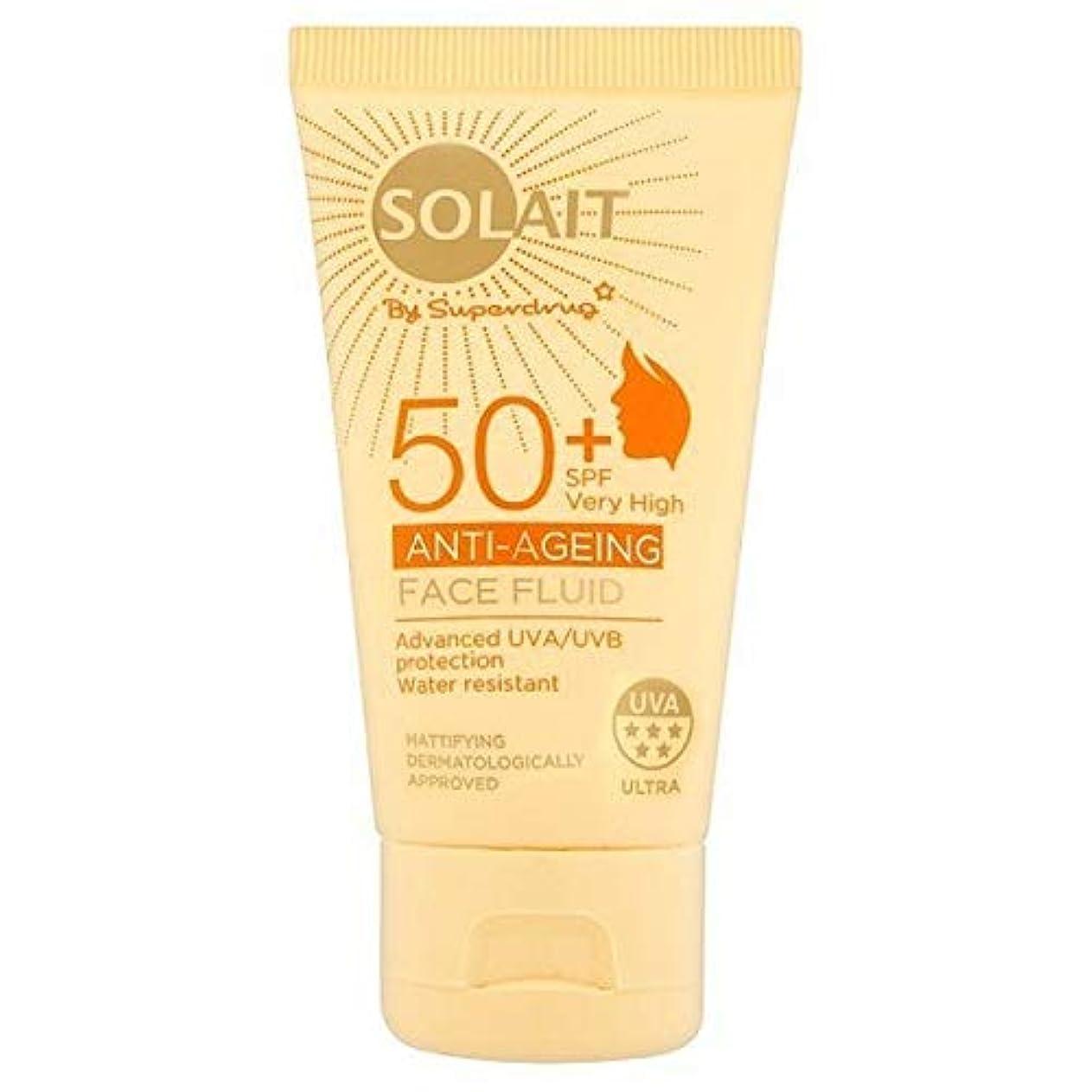 ピケファンシーアブセイ[Solait] Solait顔日クリームSpf50液の50ミリリットル - Solait Face Sun Cream Fluid SPF50 50ml [並行輸入品]