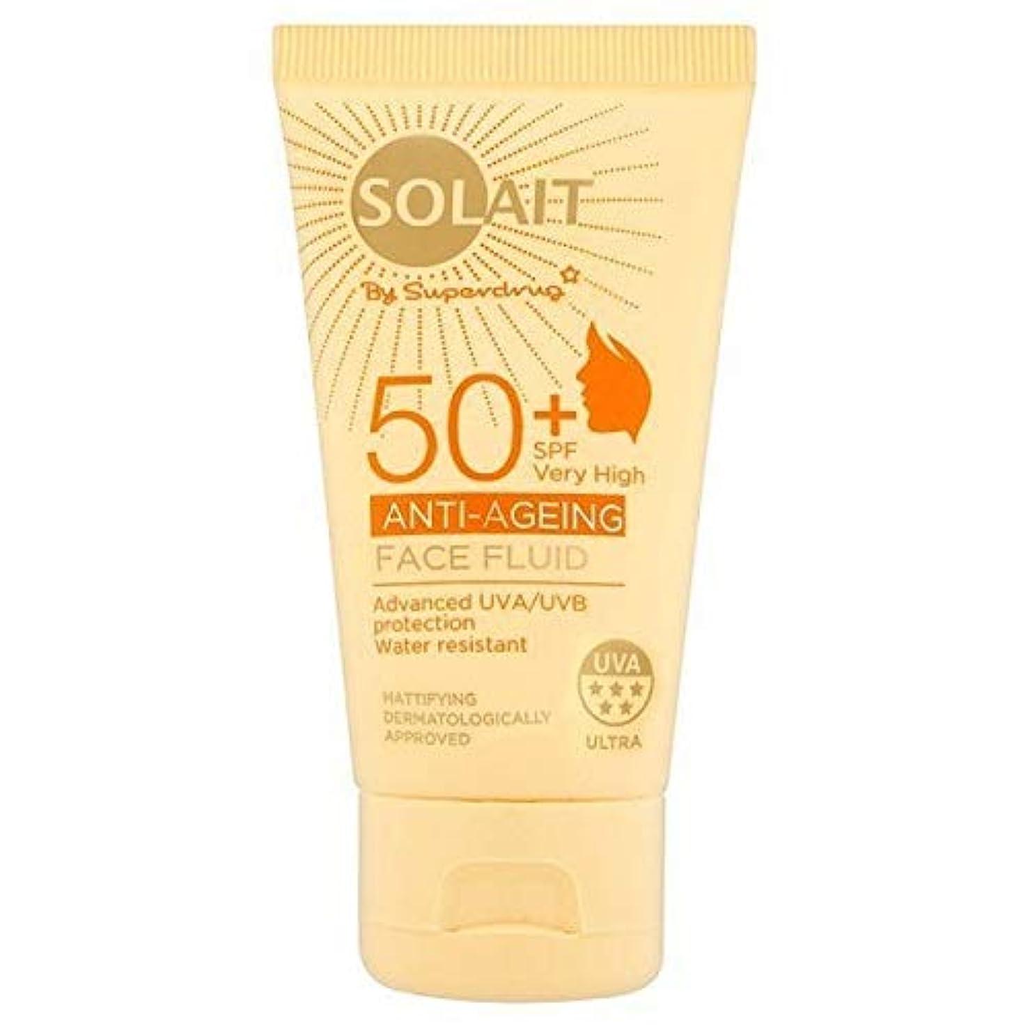 試験寓話クアッガ[Solait] Solait顔日クリームSpf50液の50ミリリットル - Solait Face Sun Cream Fluid SPF50 50ml [並行輸入品]