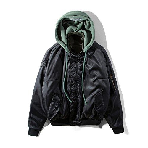 Vetements Oversize Chic ヴェトモン Ma-1ブルゾンジャケットコート リバーシブル INSセレブ着用モデル 男女兼用フード付き