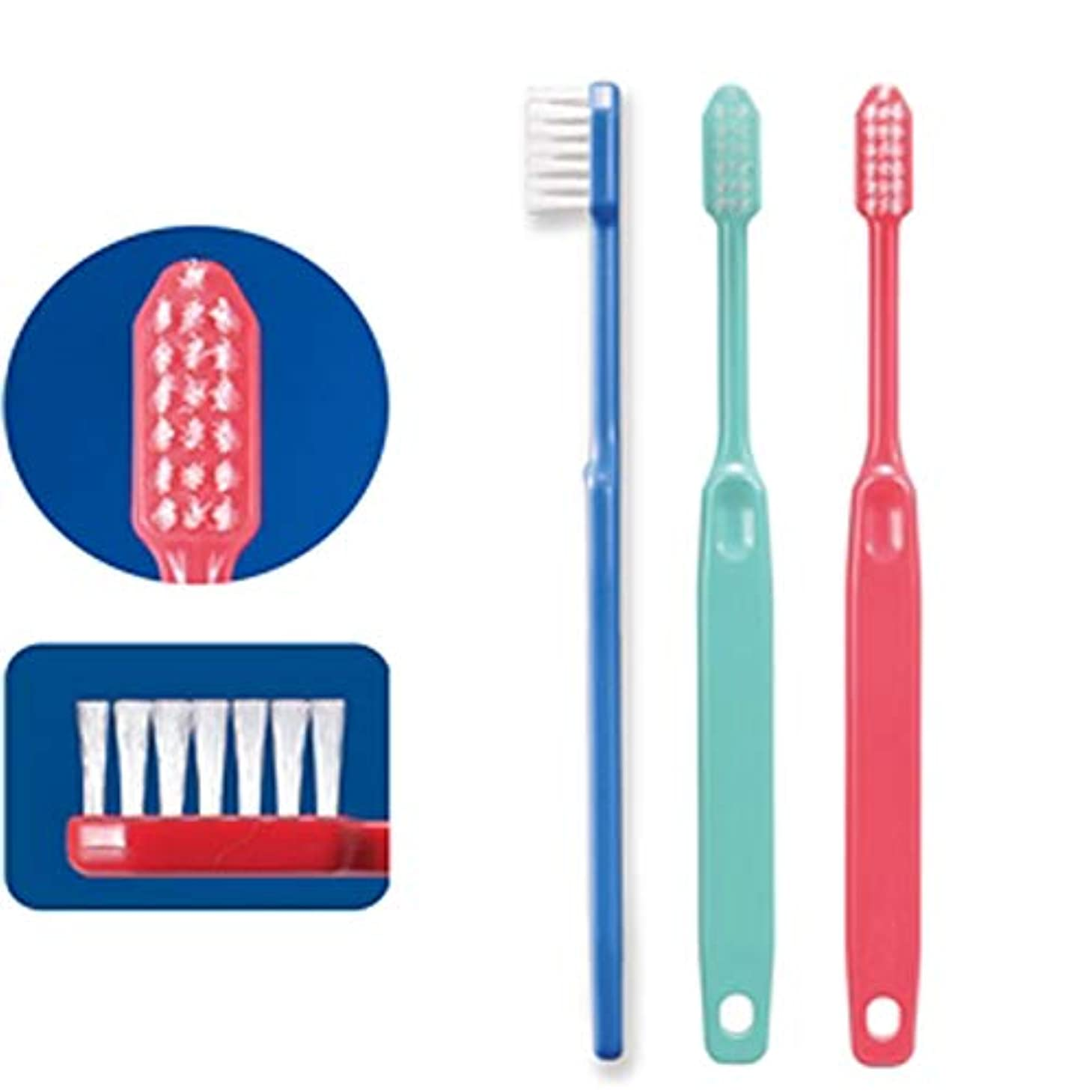 世界的に正しく発火するCi23(やややわらかめ)(疎毛タイプ)コンパクトヘッド歯ブラシ×10本 歯科専用