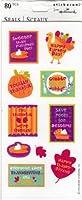 Thanksgiving Happy Turkey Day Scrapbook Stickers (TSS6024)