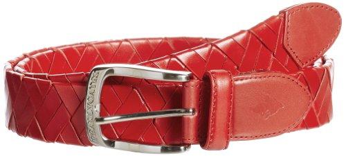 (パーリーゲイツ)PEARLY GATES レザー 編みベルト 053-182225 100 100 RED FR