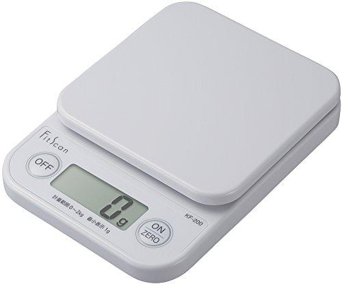 タニタ デジタルクッキングスケール 2kg/1g ホワイト KF-200-WH