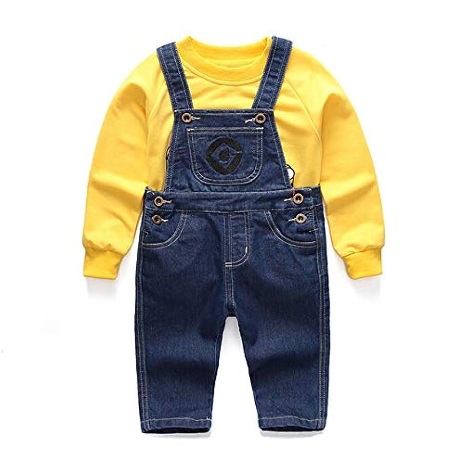 耐える非効率的な中絶クローバーズ(Clovers) ミニオン コスプレ キッズ 子供服 オーバーオール 長袖 (100cm)