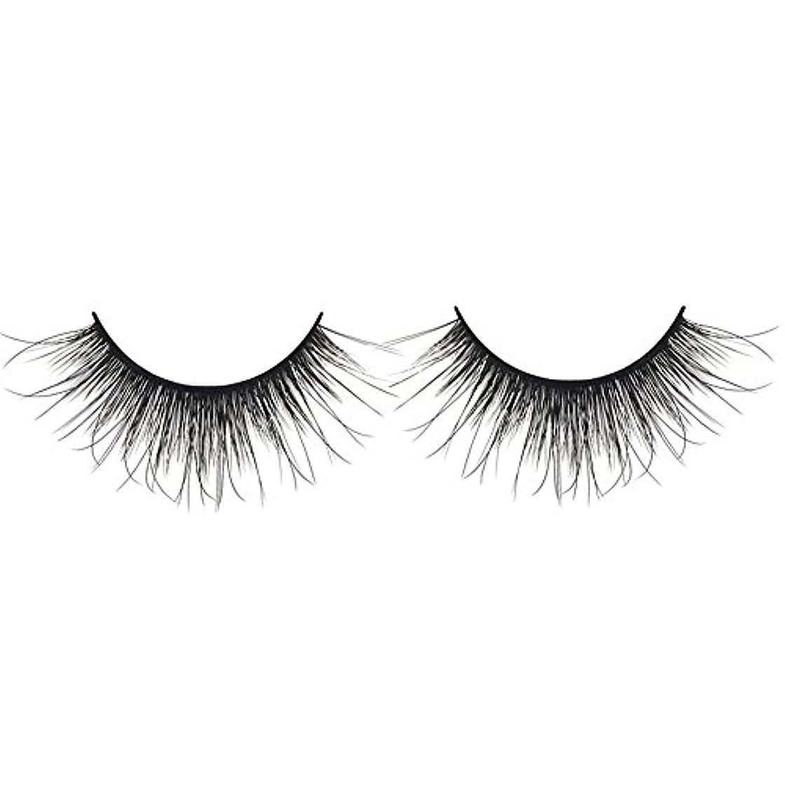 販売計画お互いコーン黒の3D人工ミンクの髪のソフトロングナチュラルメイクアップアイまつ毛スレンダー