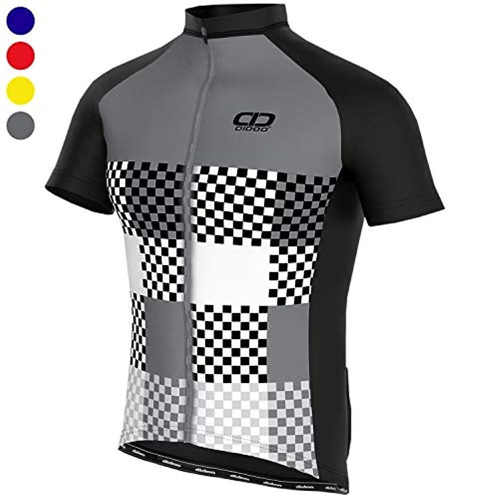 操縦するサンプル印象的Didoo サイクリングジャージ メンズ 半袖 サイクリングトップ ハーフスリーブ マウンテンバイク/MTBシャツ サマーレーシングジャージ 軽量 通気性 タイトフィット ランニング アウトドアスポーツ