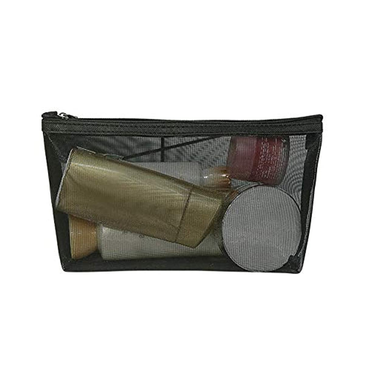 バースト伴うカウントBULemon 1ピースシンプルなストレート口化粧品袋透明メッシュ化粧品収納袋化粧品袋透明ジッパー収納袋旅行バッグ