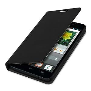 kwmobile フリップカバー保護カバーケース Huawei Ascend G620s用 黒色 - 携帯電話の実用的でシックな保護
