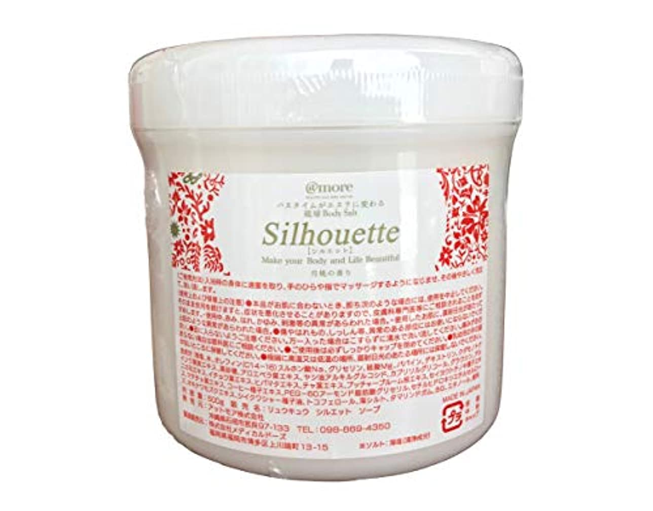 例示する拷問抑圧月桃の香り 琉球シルエット ソルトソープ 500g 業務用
