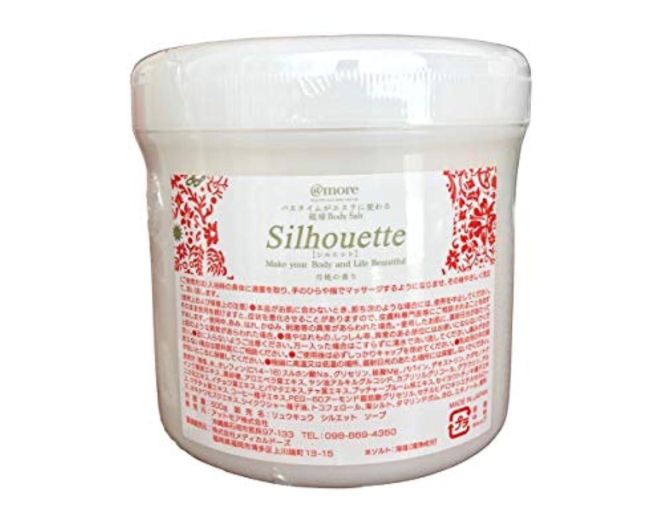 テレマコス文明化する死にかけている月桃の香り 琉球シルエット ソルトソープ 500g 業務用
