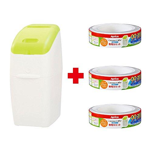 Aprica (アップリカ) 紙おむつ処理ポット におわなくてポイ 消臭タイプ バリューパック 09122 「消臭」・「抗菌」・「防臭」可 【お得なカセット3個付】