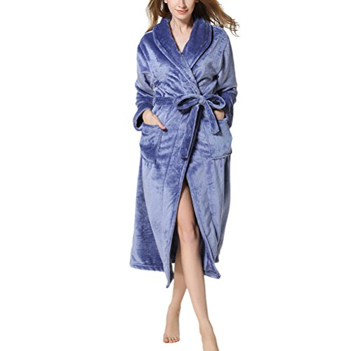 2778e383cc Zhhlaixing bathrobe Unisex Plus Size Thick Supersoft Housecoat Fleece Bath  Robe gown Women s Men s Extended Thick Bathrobe