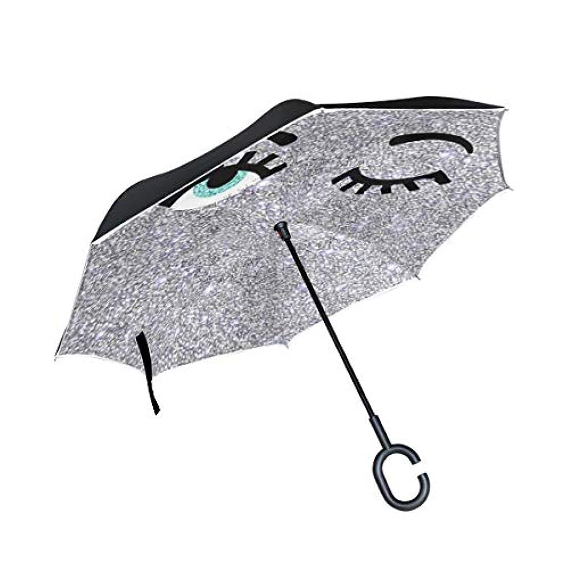 添加剤反映する必要性逆傘 逆さ傘 長傘 日傘 逆折り式傘 晴雨兼用 梅雨対策 UVカット 耐強風 C型 二重構造 車用 絵文字