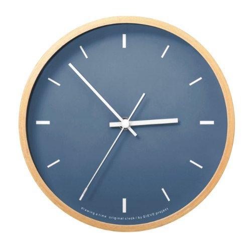 RoomClip商品情報 - SIEVE paint ネイビー シーヴ ペイント 壁掛け時計 卓上用スタンド付き