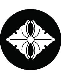 家紋シール 蔓銀杏菱紋 布タイプ 直径40mm 6枚セット NS4-2927