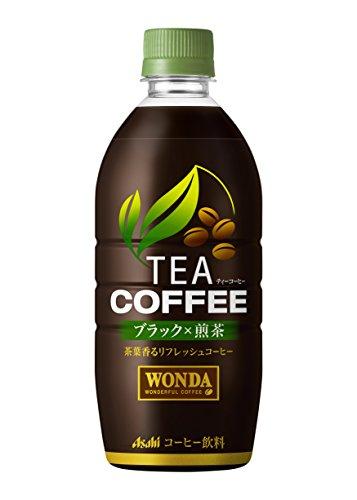 ワンダ TEA COFFEE ブラック×煎茶 525ml×24本