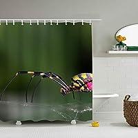 クモシャワーカーテン カットもできる カーテンリング付 お風呂 ユニットバスに最適 横165×縦180cm