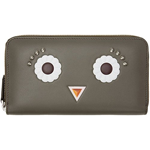 (フェンディ) Fendi レディース 財布 Grey Flower Eyes 2Jours Zip Wallet 並行輸入品